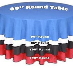 Size Guide 60 Inch Round Table Spoil Me Rotten Party Event Rentals