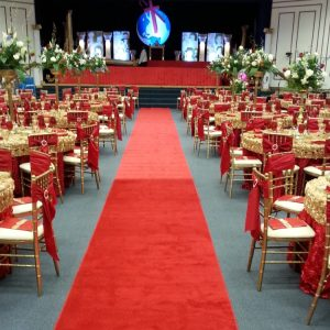 Red Aisle Runner for Weddings
