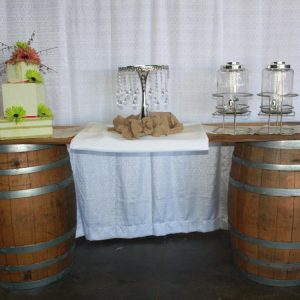 Barrel Table Rental for Wedding