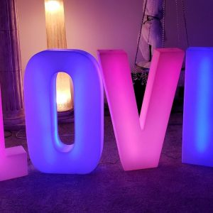 Love Lighted Letter Rental