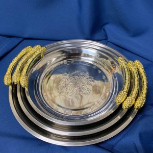Floral-Tray-Silver-Gold-Rent-Event-Texas